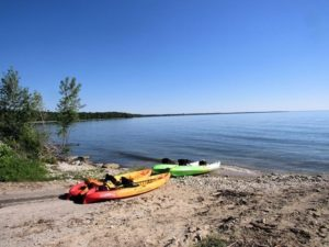 Launch kayaks at Schafer park or clark lake