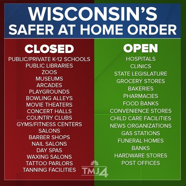 Safer at Home - Wisconsin's Stay at Home Order