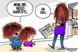 safer at home hair cut