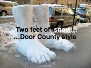 Winter - two feet of snow