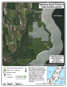 Shivering Sands trail map